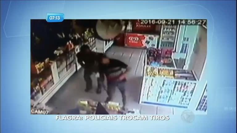 Flagrante: policias à paisana trocam tiros dentro de farmácia no Ceará
