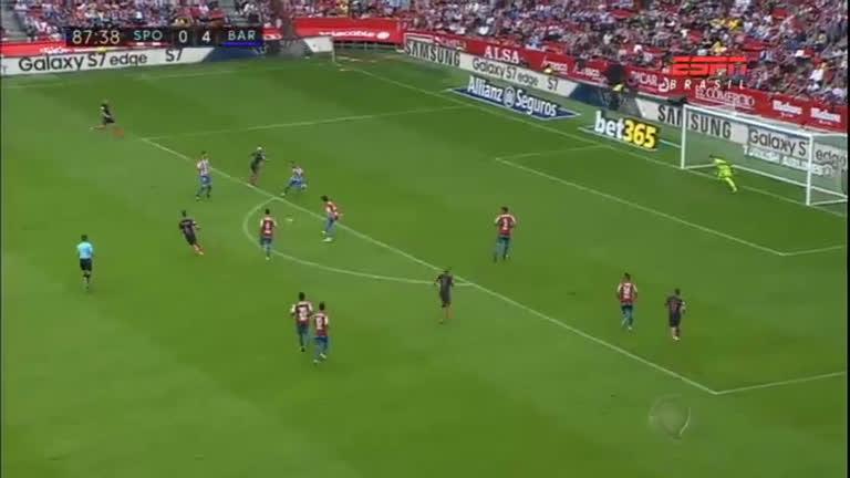 Barcelona vence o Gijón por 5 a 0 com três gols brasileiros ...