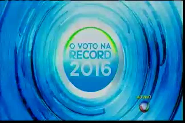 O Voto na Record 2016: agenda dos candidatos