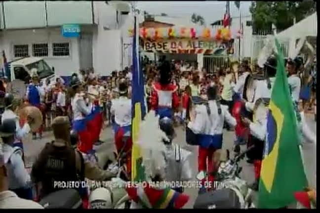 Projeto da PM traz diversão para moradores de Itinga - Bahia - R7 ...