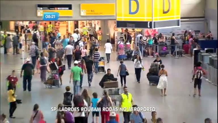 Ladrões roubam rodas de carros de luxo no Aeroporto Internacional ...
