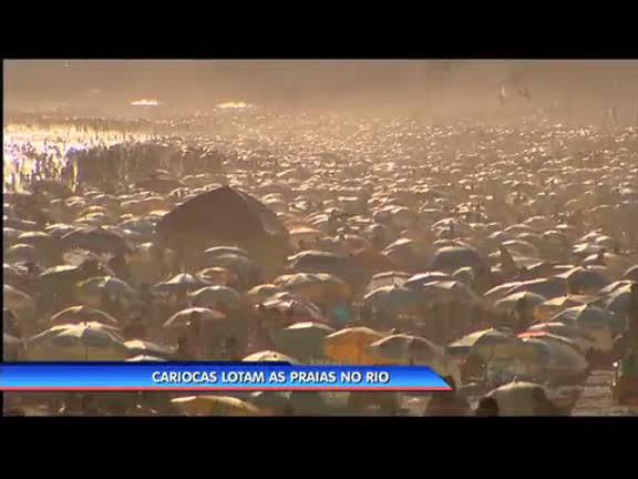 Cariocas lotam as praias do Rio nesta segunda-feira ( 17) - Rio de ...