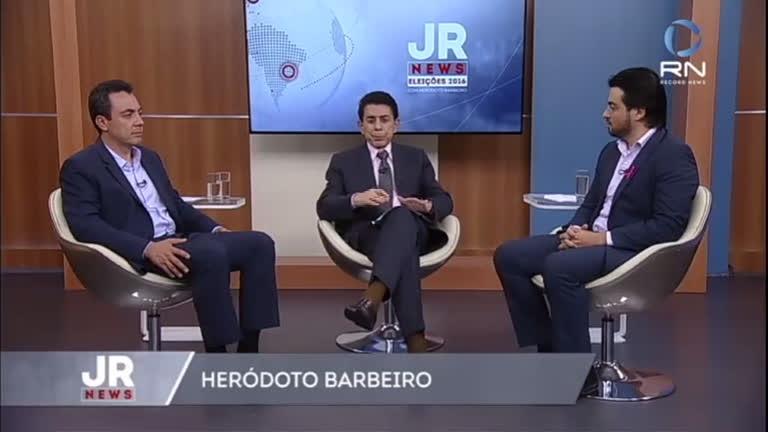 Debate JR News: Eli Correa Junior e Guti falam suas propostas ...