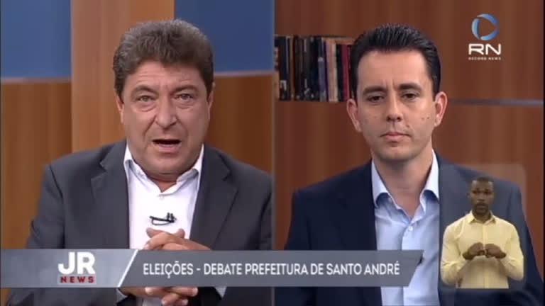 Acompanhe o debate entre os candidatos à Prefeitura de Santo André