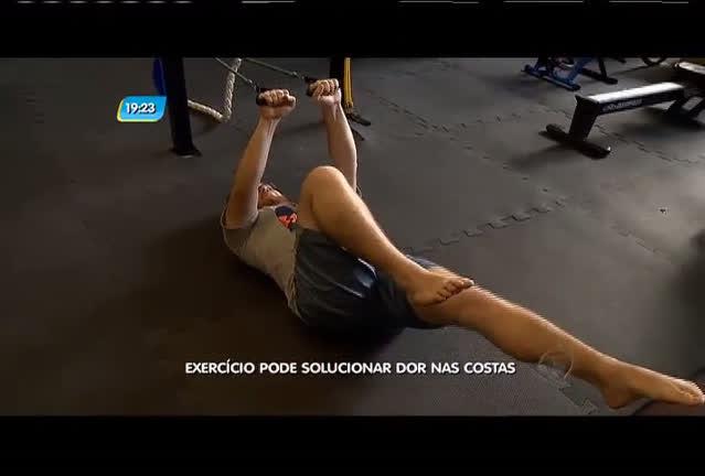 Exercício pode solucionar dor nas costas