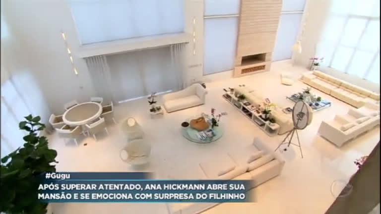 82d62091ebc78 Ana Hickmann mostra sua casa luxuosa a Gugu - RecordTV - R7 Programa do Gugu