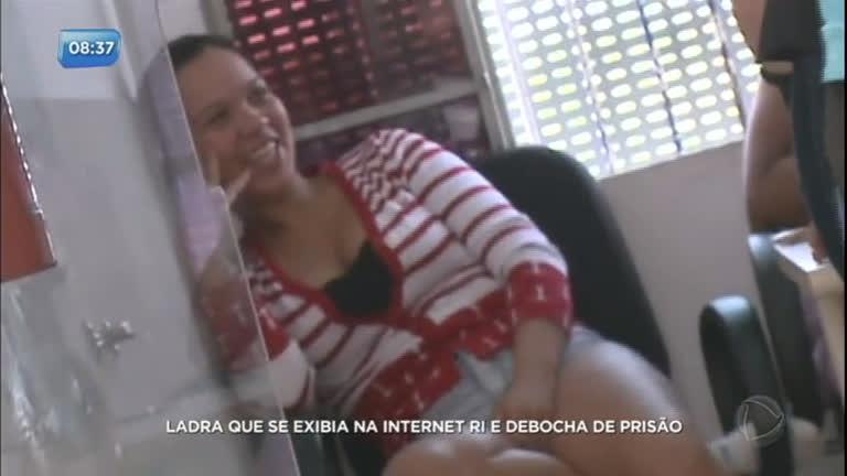 Ladra que se exibia na internet ri e debocha de prisão no Paraná