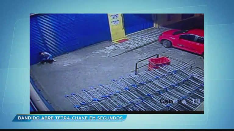 Ladrão abre tetra-chave em segundos durante assalto a supermercado…