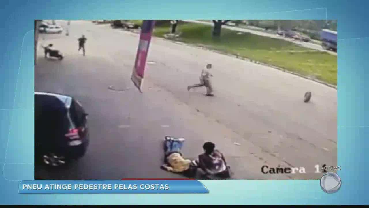 Homem é atingido por pneu em rodovia de Ipatinga (MG) - Minas Gerais - R7  Balanço Geral MG 40b38a2ae7a0b
