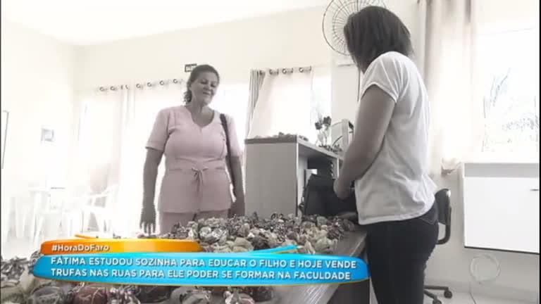 Conheça o sonho de Fátima, a mãe que vende trufas para pagar a faculdade do filho
