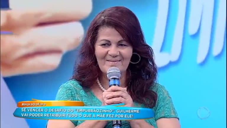 Guilherme e Fátima participam do quadro Empurrãozinho