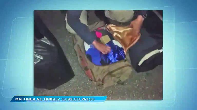 Homem é preso com 40 kg de maconha em ônibus no sul de Minas