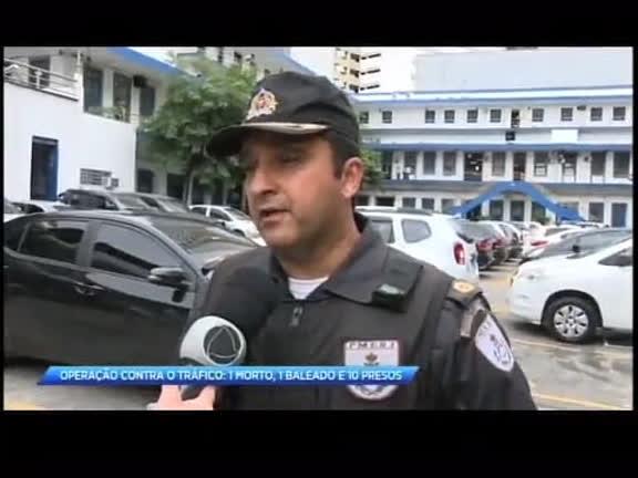 Operação contra o tráfico deixa um morto, um baleado e dez presos
