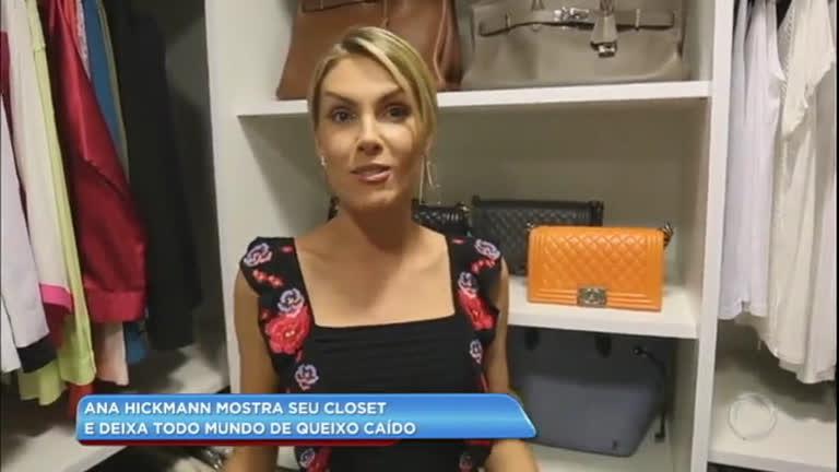 Hora da Venenosa  Ana Hickmann mostra seu closet e deixa fãs de queixo  caído - RecordTV - R7 Balanço Geral 804e7fe3dd