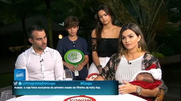 Kelly Key apresenta a família pela primeira vez na TV.…