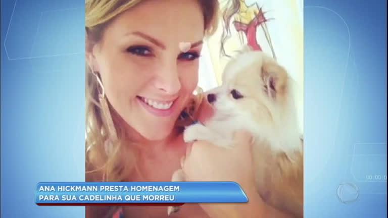 Hora da Venenosa  Ana Hickmann faz vídeo em homenagem à morte de cadelinha  - RecordTV - R7 Balanço Geral 4ca1a1f042