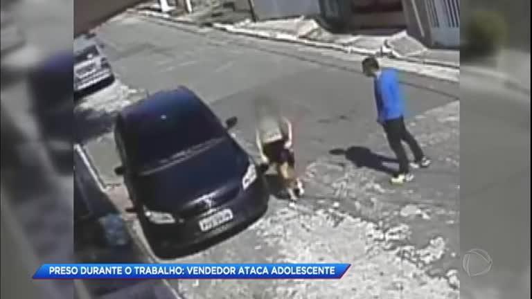 e19351e0a Câmera de segurança flagra vendedor abusando de criança de 11 anos em SP -  RecordTV - R7 Cidade Alerta