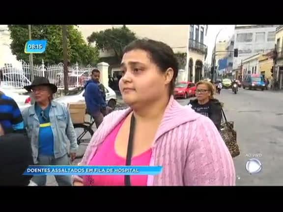 Pacientes são assaltados em fila de hospital no centro do Rio