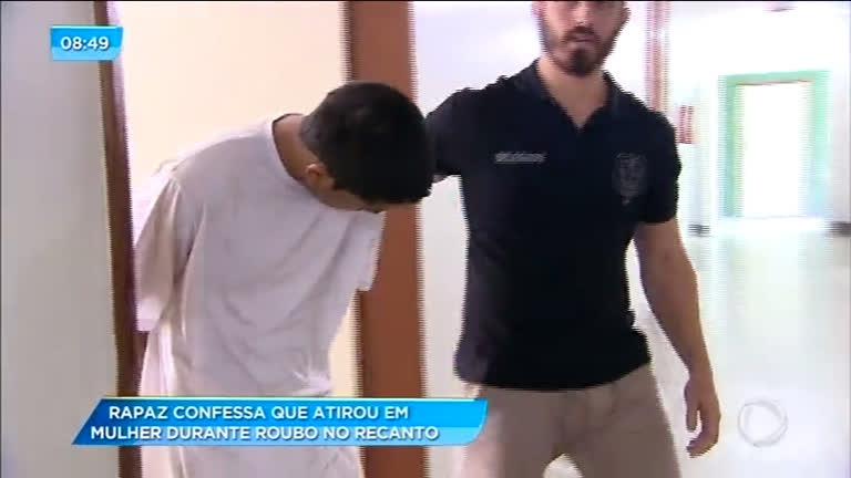 Rapaz que atirou em mulher é preso