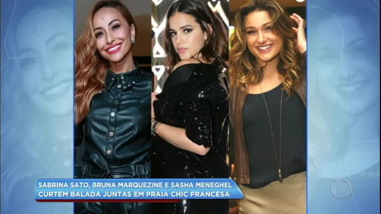 Hora da Venenosa: Sasha Meneghel, Bruna Marquezine e Sabrina Sato curtem balada em Paris