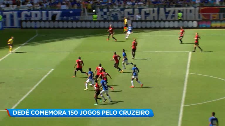 557686696 Esporte  Dedé comemora 150 jogos disputados pelo Cruzeiro - Minas Gerais -  R7 Balanço Geral MG
