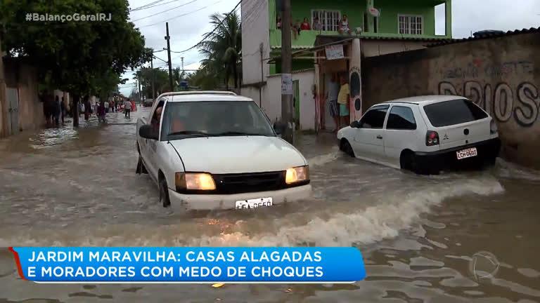 Chuva Deixa Ruas Alagadas E Moradores Com Medo De Choques Em Jardim