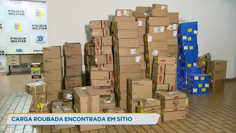 PM recupera carga roubada avaliada em R$ 100 mil em Contagem (MG) - R7
