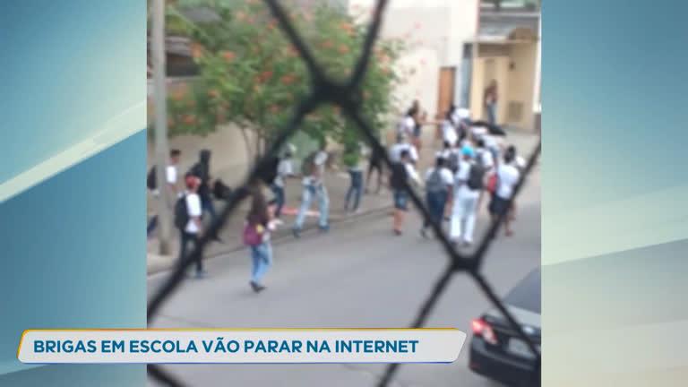 Vídeo mostra brigas frequentes em porta de escola de Contagem (MG) - R7