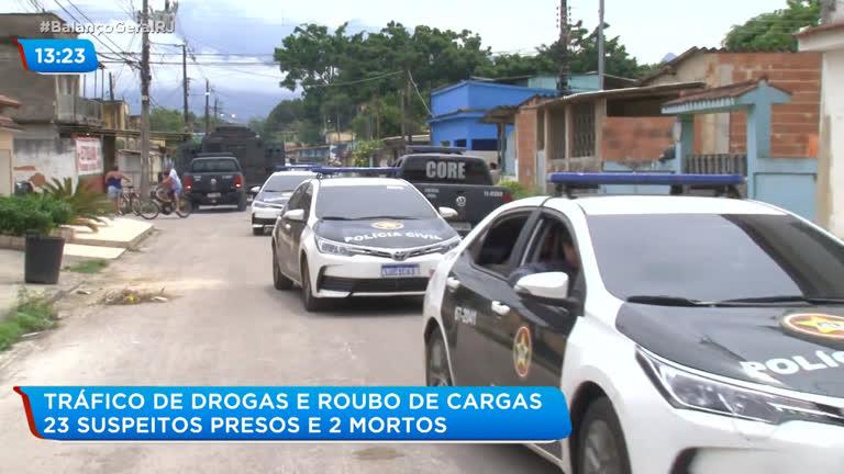 Duque de Caxias: dois suspeitos morrem e 23 são presos durante operação policial - R7
