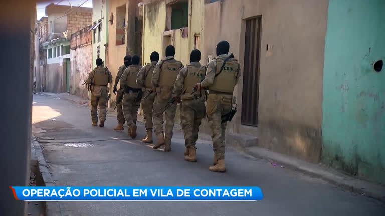 Polícia faz buscas em casas durante operação em Contagem (MG) - R7