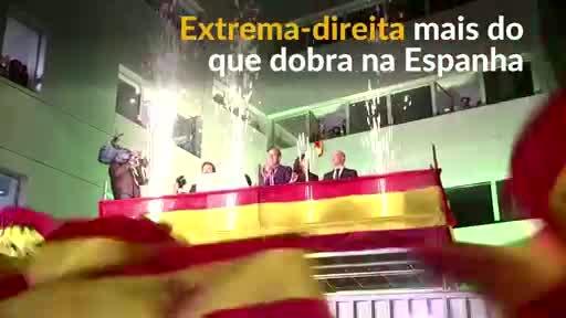 Extrema-direita espanhola dobra cadeiras no Parlamento - R7