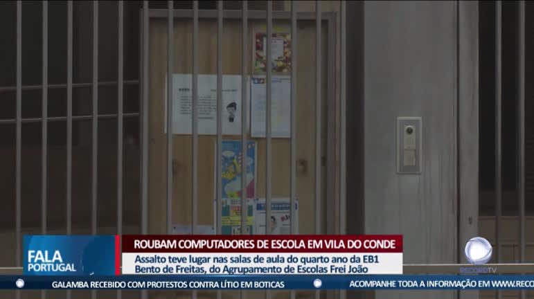 Roubam computadores de escola em Vila do Conde - R7