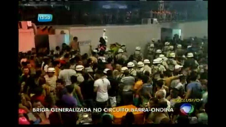Circuito Barra Ondina : Briga generlizada no circuito barra ondina bahia r