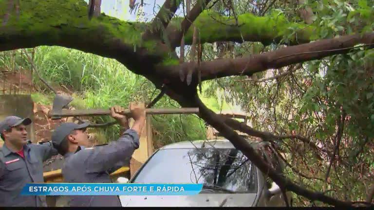 Belo Horizonte registra chuva forte no domingo de Natal