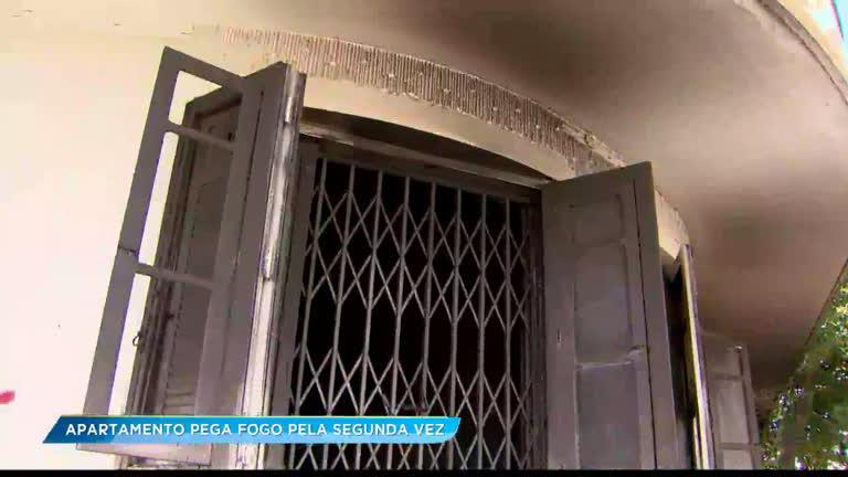 Apartamento de idosa pega fogo pela segunda vez em uma semana