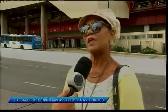 Passageiros denunciam assaltos na avenida Bonocô