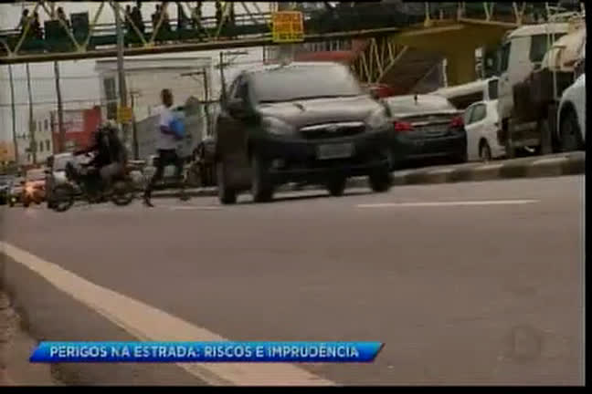 Perigos na estrada: riscos e imprudência