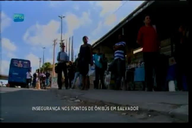 Insegurança nos pontos de ônibus em Salvador