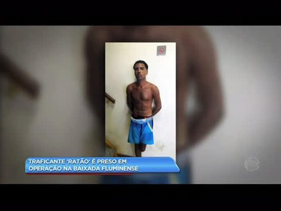"""Traficante """"Ratão"""" é preso em operação na Baixada Fluminense"""