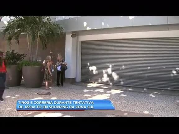 Tiros e correria durante tentativa de assalto em shopping de zona sul
