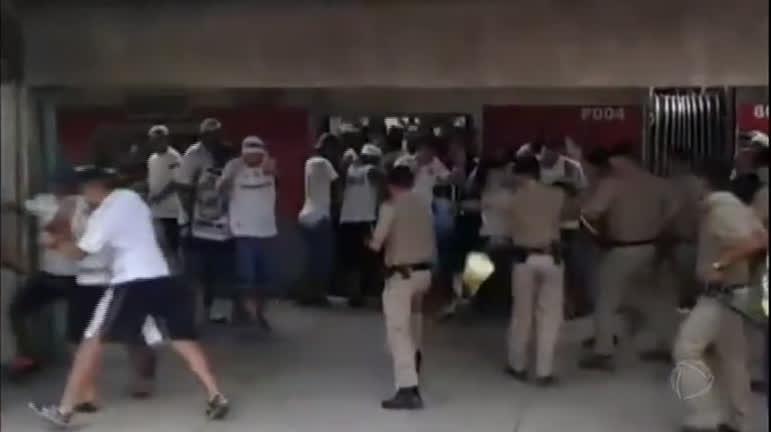 Guarda da CPTM dá disparos na plataforma durante tumulto com torcedores