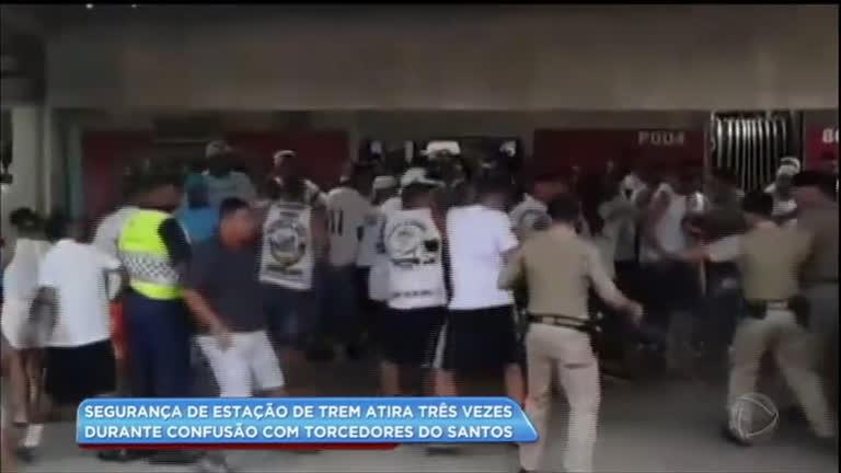Guarda da CPTM atira três vezes durante confusão com torcedores do Santos