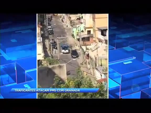 Traficantes atacam PMs com granada na Vila Cruzeiro
