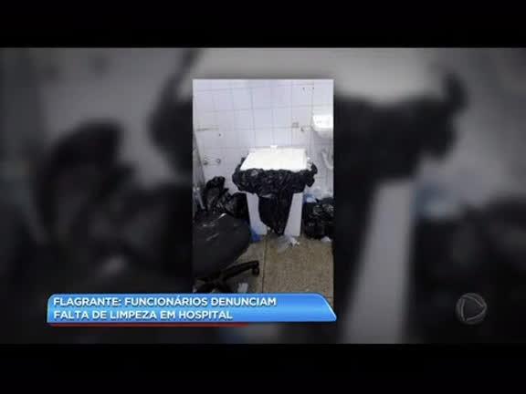 Funcionários denunciam falta de limpeza no Hospital Estadual Getúlio Vargas