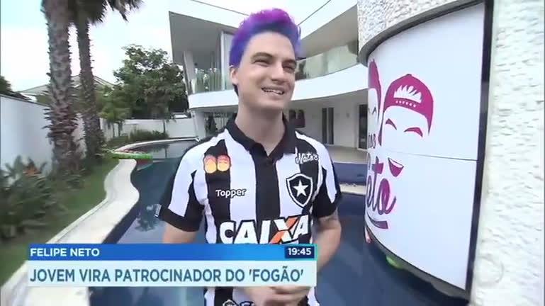 Felipe Neto vira patrocinador do Botafogo - Rio de Janeiro - R7 RJ Record 0a8f73b05d61c