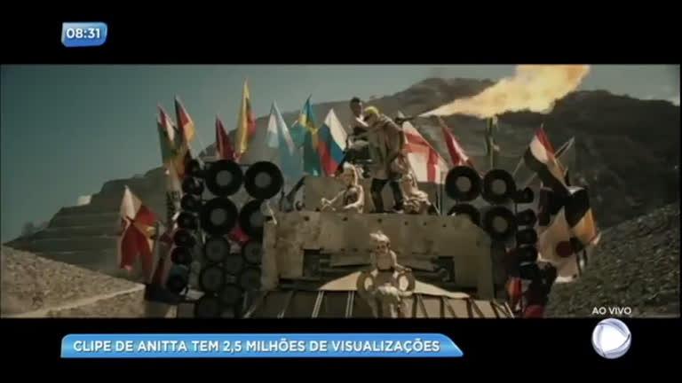 Novo clipe de Anitta já acumula milhões de visualizações nesta sexta-feira (19)