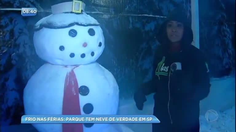 Parque com neve de verdade conquista adultos e crianças em São Paulo