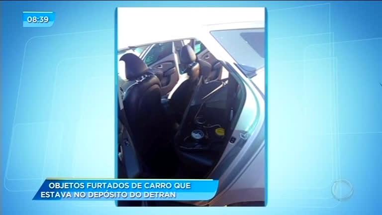 Objetos são furtados de veículo apreendido pelo Detran