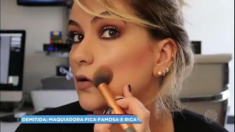 Após ser demitida, maquiadora alcança sucesso na internet e lança marca de produtos próprios
