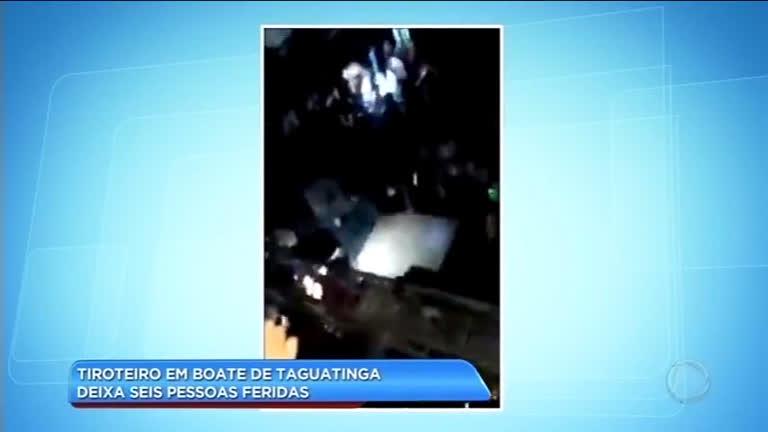 Tiroteio em boate de Taguatinga deixa seis feridos